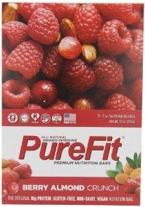 Purefit Berry Almond Crunch Nutrition Bars 2 Oz (30 Pack)