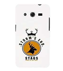 EPICCASE Storm's end stag Mobile Back Case Cover For Samsung Galaxy Core 2 (Designer Case)