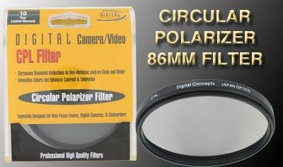 Crystal Optics 86mm Circular Polarizer Filter