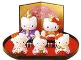 【雛人形/ひな人形】ハローキティ 雛飾りセット(在庫処分)