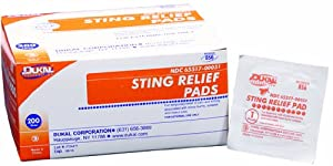 Dukal Sting Relief Pad, Medium, 2 Ply, Non-Sterile, 3 Strip 1500Ea Bx 2Bx Cs, Bulk (2... by Dukal