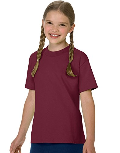 hanes-tagless-61-youth-tee-maroon-size-xs