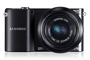 Samsung NX1000 SMART Digital Compact System Camera - Black (20.3MP, 20-50mm Lens Kit) 3.0 inch LCD