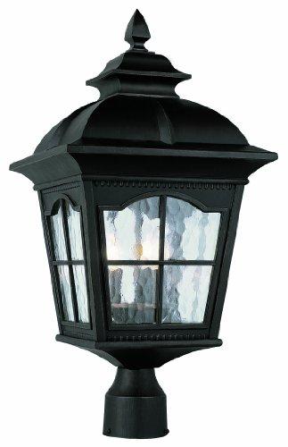 Trans Globe Lighting 5422 Bk 3-Light Post Lantern, Black