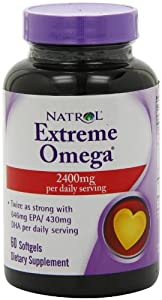 Natrol Extreme Omega , 2400 mg, 60 Softgels