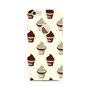 Ebby Black and White Cupcakes Premium Printed Case For Apple iPhone 6/6s with hole