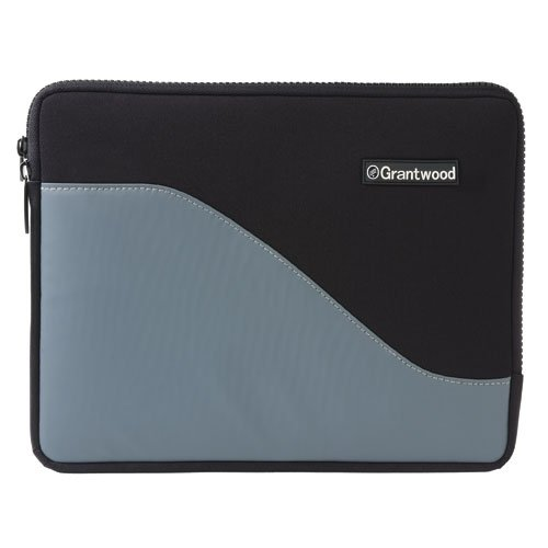 SimpleSleeve, Premium Protective Neoprene Sleeve for Apple iPad and iPad 2 (all models), Black/Gray from Grantwood Technology