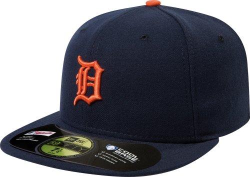 Detroit Tigers Authentic On Field Road 59FIFTY Cap (Black/Orange, 7 3/8)