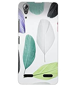 ColourCraft Colourful Feathers Design Back Case Cover for LENOVO A6000 PLUS