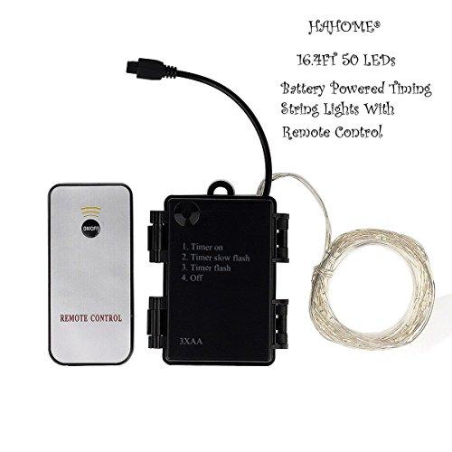 hahome battery operated led string lights 16 4ft 50 leds. Black Bedroom Furniture Sets. Home Design Ideas