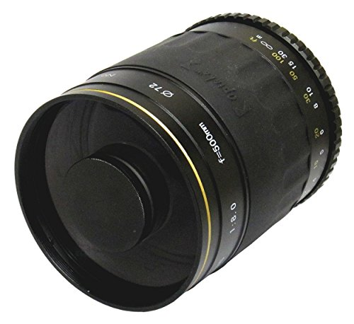 Opteka 500Mm F/8 High Definition Telephoto Mirror Lens For Panasonic Lumix Dmc G1, Gh1, Gf1, G10, G2 Gh2, Gf2, Olympus Pen E-P1, E-P2, E-Pl1, E-Pl1S, E-Pl2 And Other Micro Four Thirds Digital Slr Cameras