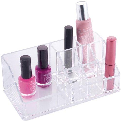 Danielle Rectangular Lipstick/Brush Holder Clear Acrylic