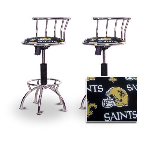 "2 24""-29"" New Orleans Saints Seat Chrome Adjustable Specialty / Custom Barstools Set at Amazon.com"