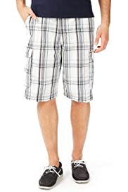 North Coast Pure Cotton Checked Shorts [T17-2245N-S]
