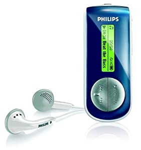 Philips SA41 1 GB Flash MP3 Player (Navy Blue)