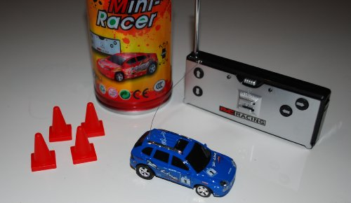 Super Pocket Racer RC car in a can - Blue Car