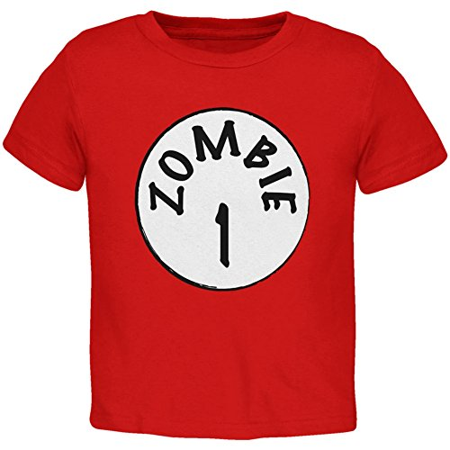 Halloween Zombie 1 One Costume Red Toddler T-Shirt