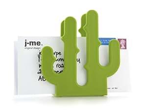 j-me cactus letter holder - green
