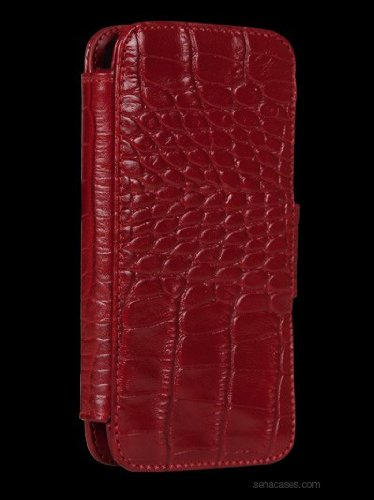 Great Price Sena WalletBook for iPhone 5 - Croco Red - 826817