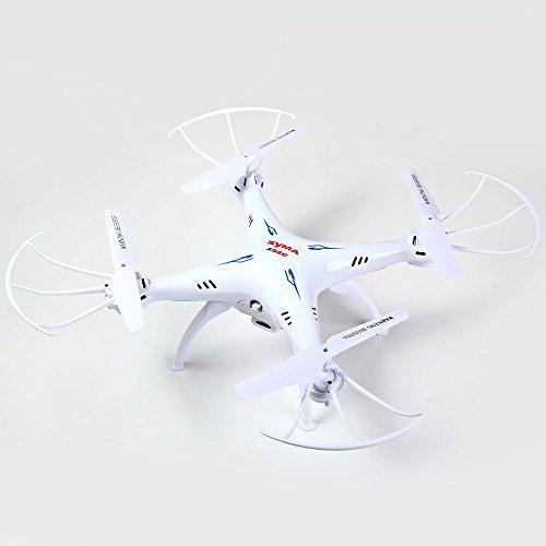 Syma X5SC-1 Drone Falcon Cuadricópteros RC (360 Grados, 4CH 6 Axis, 2.4G ,2.0 MP Cámara,LED Colorido, Fotográfica Aérea) - Blanco