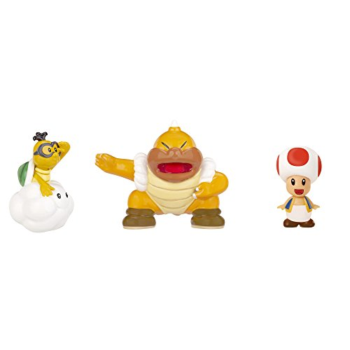 NINTENDO Mario Bros U Micro Figure (3-Pack : Red Toad/Lakitu/Super Sumo Bros)
