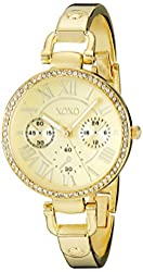 XOXO Women's XO5756 Rhinestone-Accented Gold-Tone Stainless Steel Watch