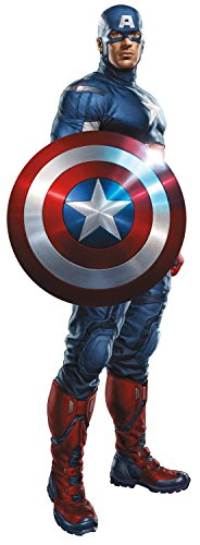 Marvel Superheroes Comic - The Avengers - Captain America Giant Wall Decal Sticker (Marvel Decal compare prices)
