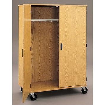 Encore Wardrobe with Doors Doors: With Locking Doors, Casters: 4 Non-Locking