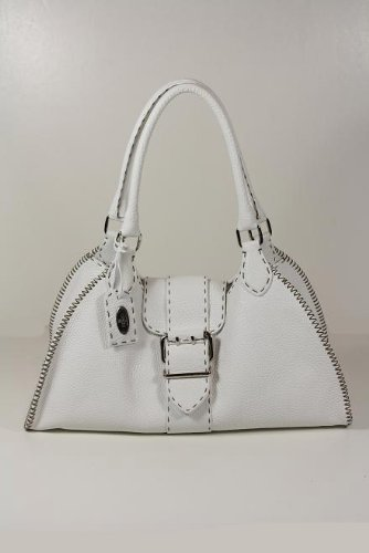 Fendi Handbags Selleria Hobo White Leather 8BR457 &#8211; NDU