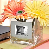 Best Seller Personalized Greek Square Glass Vase with Photo Frame