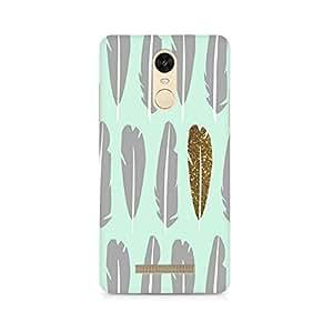 Rayite Golden Feather Premium Printed Case For Xiaomi Redmi Note 3