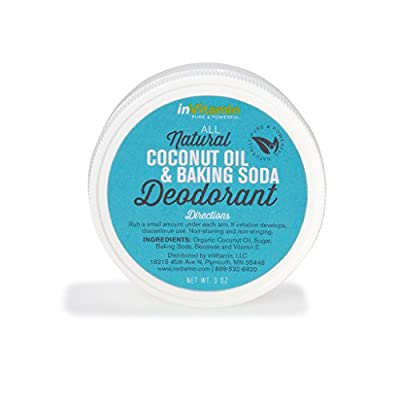 All Natural Coconut Oil and Baking Soda Deodorant