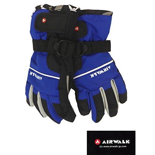 (エアウォーク)AIRWALK  子供用 スキー スノーボード用 5指 手袋 ジュニア用 AW-7123 (ブルー, JSS)