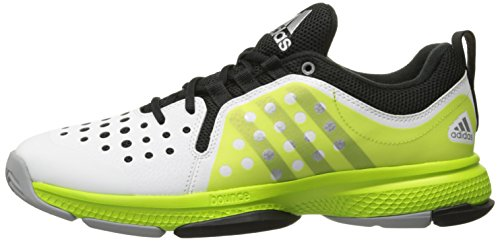 White And Silver Bounce Brand Tennis Shoe