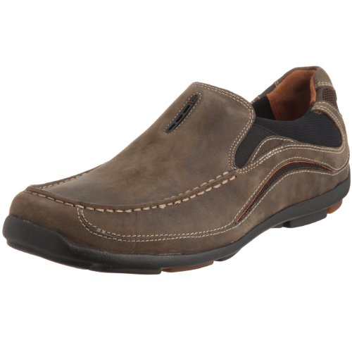 Da uomo Clarks Slip On scarpe stile mocassino un Drag, marrone (Smokey Brown), 41