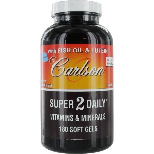 Carlson Labs, Super 2 Daily Vitamins  &  Minerals, Iron-Free, 180 Soft Gels