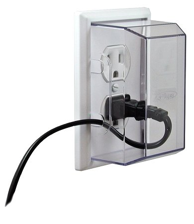 LectraLock-Baby-Safety-Electrical-Outlet-Cover-Duplex-Style-single-screw-type-Medium-Cover