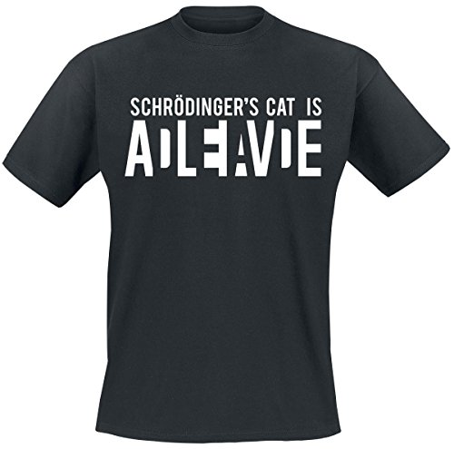 Schrödinger's Cat Is Alive T-Shirt nero XL