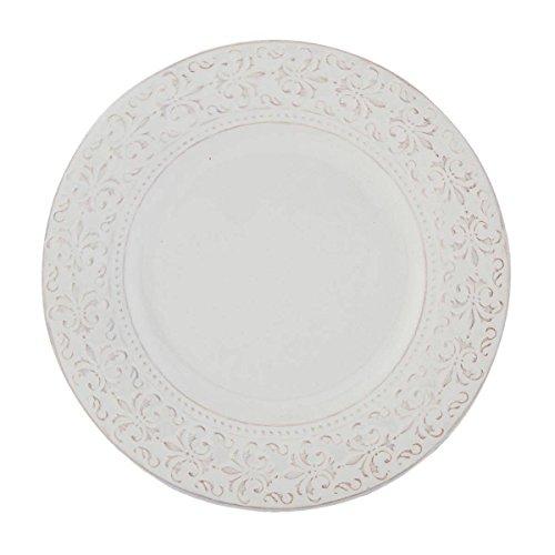 Clayre & Eef tcldp Petit 1assiette à gâteau Blanc env. Ø 21cm
