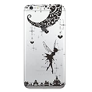 Hamee Designer Case from Japan Clear Protective Plastic Hard Cover for iPhone 6 / 6s (Fairy / Black)