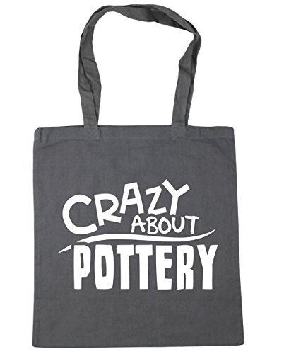 hippowarehouse-crazy-about-pottery-tote-shopping-gym-beach-bag-42cm-x38cm-10-litres