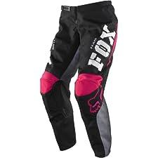 Fox Racing 180 Youth Girls MX/Off-Road/Dirt Bike Motorcycle Pants - Black/Pink / Size 22