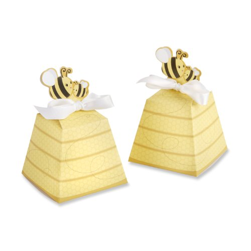 Kate Aspen 24 Count Sweet as Can Bee Mom and Baby Beehive Favor Box