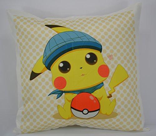 GO TEAM Pikachu Pokemon limitata Cuscino Throw Pillow Cuscino non incluso-, morbida al tatto, Cuscino Decorativo, di alta qualità, immagine, disegni Fine Art, per letto, sedia, divano, sedia, Camera da letto, salotto, soggiorno, cucina, casa, Casa, Giardino, Ufficio, lavoro, nursery