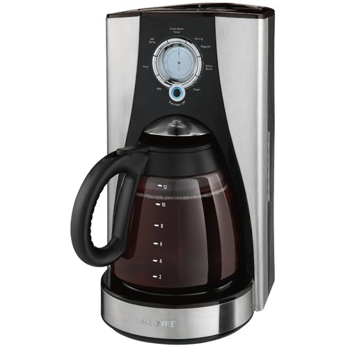Mr. Coffee LMX37 12-Cup Programmable Coffeemaker, Stainless Steel