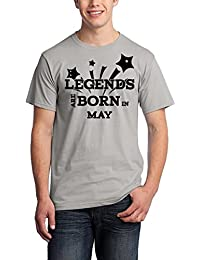 Pepperclub Men's Cotton Round Neck Half Sleeve Tshirt - Legends Are Born In May