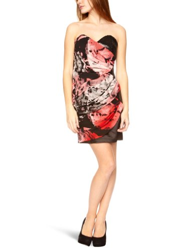 Lipsy DR05555 Strapless Women's Dress Red  12