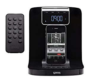 Gear4 Halo 2 Alarm Clock Docking Station Compatible with iPhone 4, 4S, iPod Nano 5th Gen and iPod Touch 4th Gen - Black