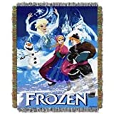Disney Frozen Woven Tapestry Throw (Frozen Storybook )