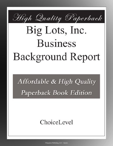 big-lots-inc-business-background-report